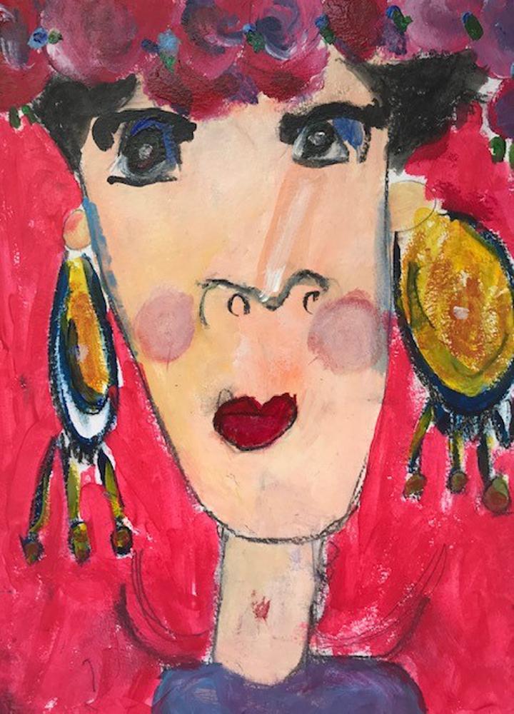 Kunstschule Kreativ Kinderatelier Kindergartenkinder Frida Kahlo