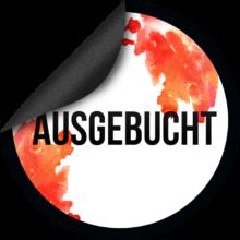 Ausgebucht_Sticker